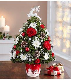 Santa's Sleigh Ride™ Holiday Flower Tree®