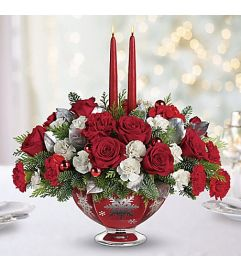 Silver & Joy Xmas centerpiece