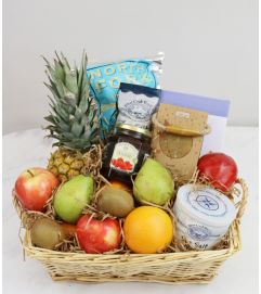 Fruit & Gourmet Treats Basket