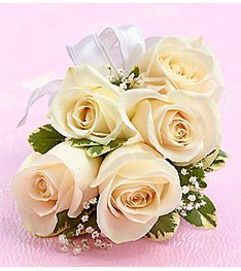 Corsage White Rose