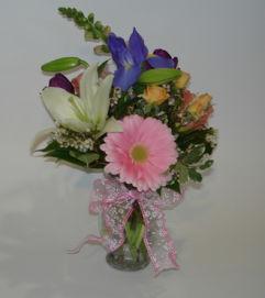 Small Mixed Spring Garden Vase
