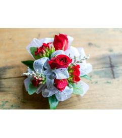 Lovely Red Corsage