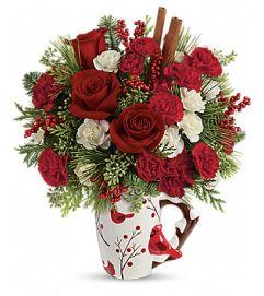 Send a Hug® Christmas Cardinal by Teleflora