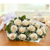 Perfectly wrapped white roses