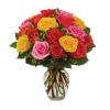 Assorted Rose Vase