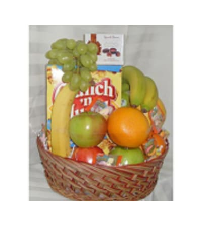 Fruits with mixed goodies