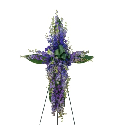 Forever Cherished Lovingly Lavender Cross