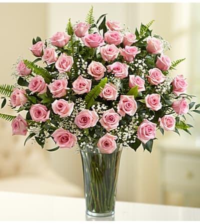 Three Dozen Pink Roses