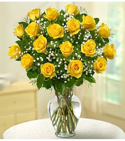 Eighteen Yellow Roses