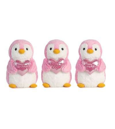 Plush Valentine Penguin