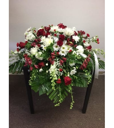 Red and White Casket