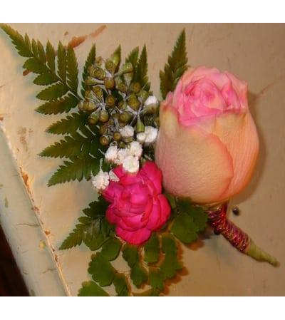 Pink Blush Groom Boutonniere