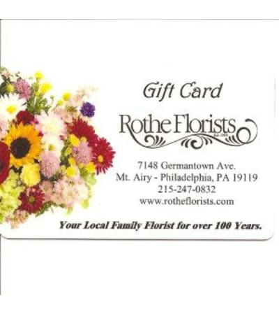 Rothe Florists Gift Card