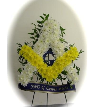 Masonic Emblem Floral Tribute