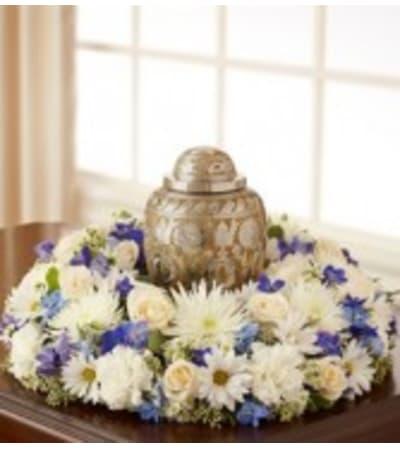 Blue Elegance Urn Arrangement