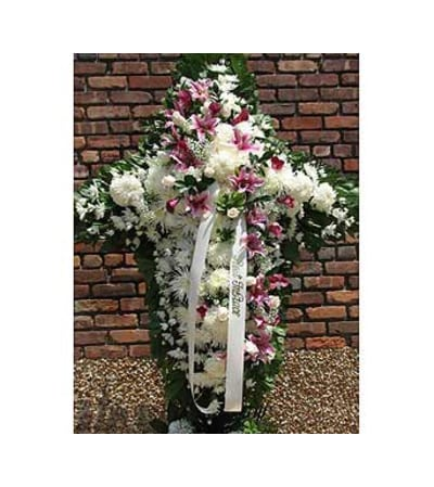 White with Pink & Lavender Sash