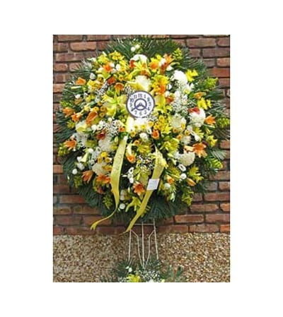 Fall Wreath with Clock