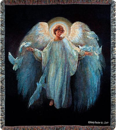 MESSENGER OF PEACE ANGEL  MEMORIAL THROW