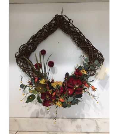 Fall Diamond Vine Wreath