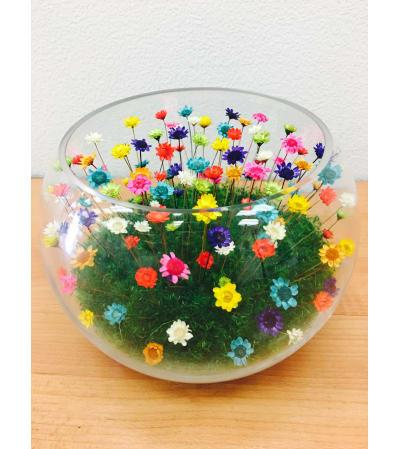 Forever Love Flowers L Bowl