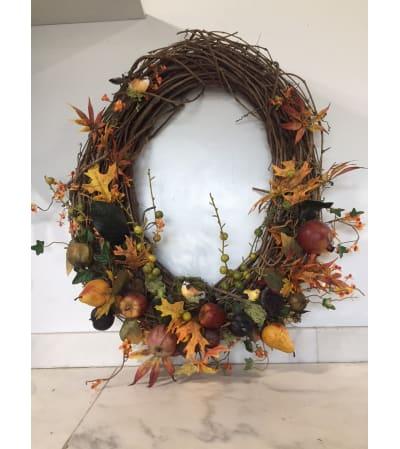 Fall Fruit Wreath