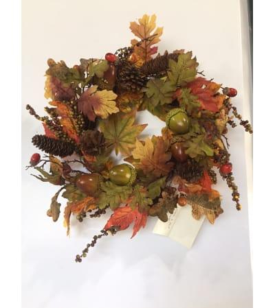 Acorn and Leaf Wreath