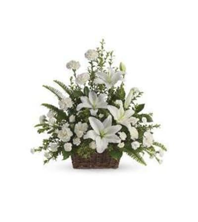 Peaceful White Lilys