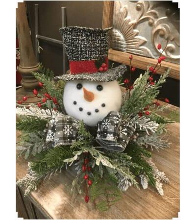 Snowman Head Arrangement