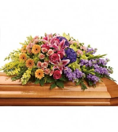 Garden of Sweet Memories Casket Spray - by Jennifer's Flowers