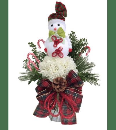 Jolly Flower Snowman