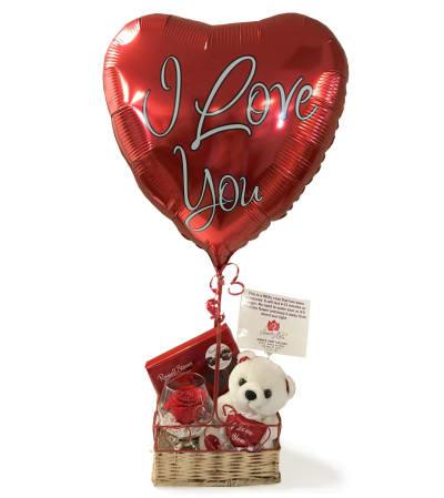 I Love You Forever Rose Bundle Basket