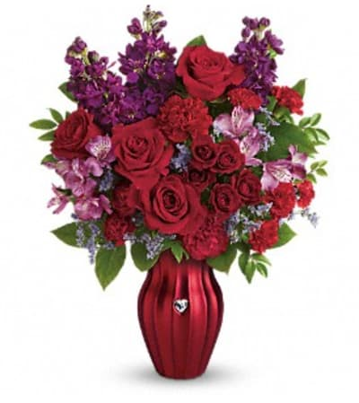 Teleflora's Shining Heart Bouquet
