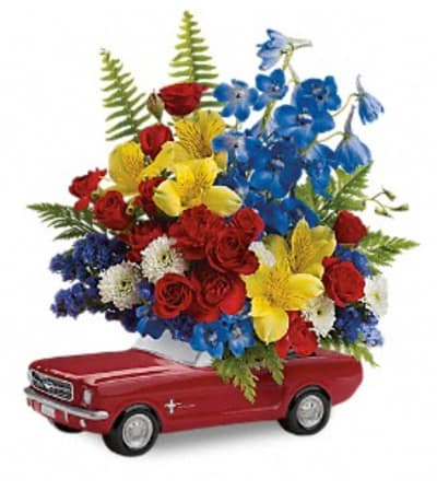 Teleflora's '65 Ford Mustang Bouquet