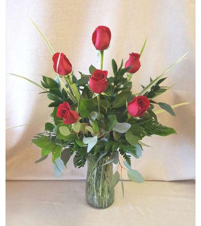 Classic Half- Dozen Roses