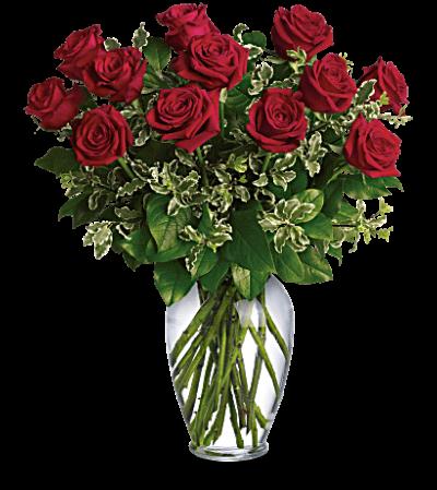 Valentine's Day Special Dozen Roses & Box Of Chocolates