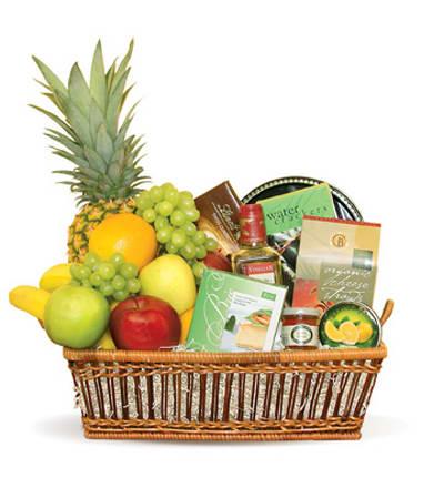 Custom Fruit and Treat basket