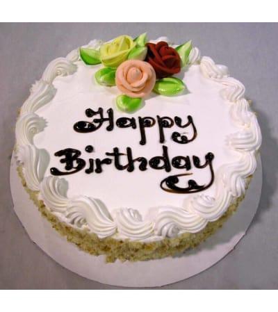 White Birthday Cake