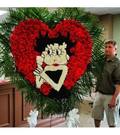 Funeral Custom Betty Boop Sympathy Piece