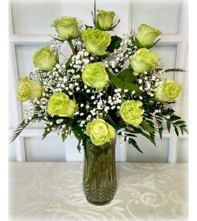 Premium Super Green Rose Bouquet