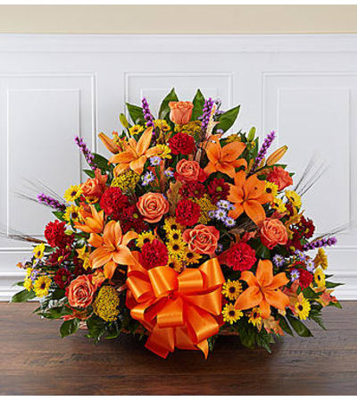 Thoughts and Prayers Fireside Basket in Fall Colors