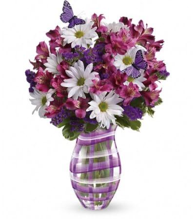 Teleflora's Lavender Plaid Bouquet