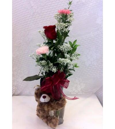 Brown Bear vase