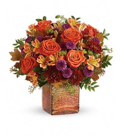 Teleflora's Golden Amber Bouquet
