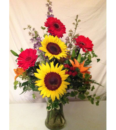 Fall Harvest with Sunflowers