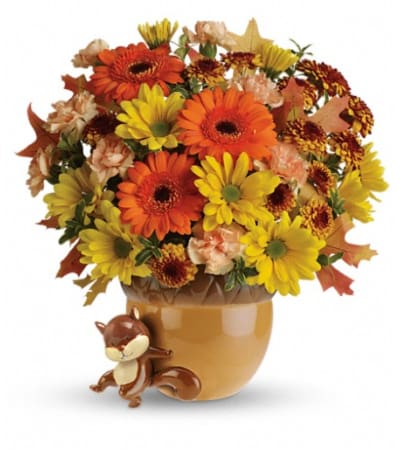 Teleflora's Send a Hug™ Fetching Fall Bouquet