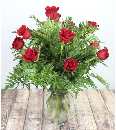 A Classic Rose Vase by Kirk's
