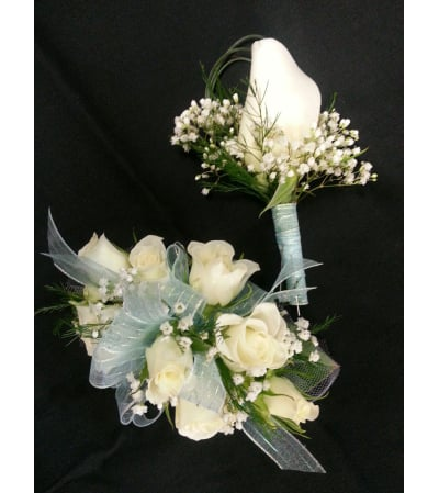 wristlet and boutonniere