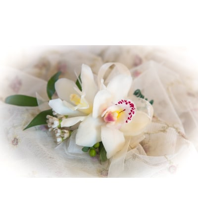 White Orchids Corsage
