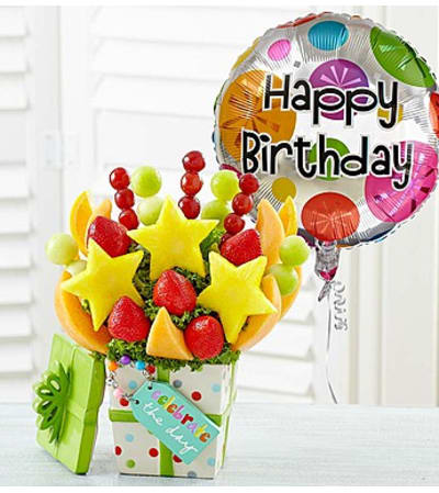 """Celebrate the Day"" Fruit Arrangement"