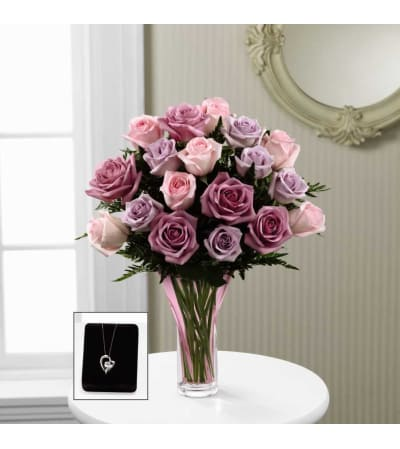 The FTD® Mixed Rose Bouquet with Pendant